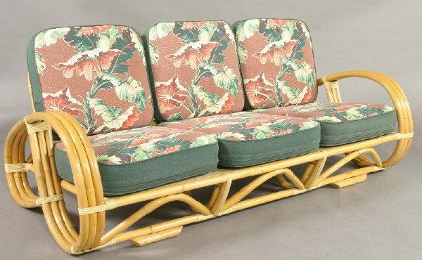 227 set 4 art modern bent rattan furniture including for Bent bamboo furniture