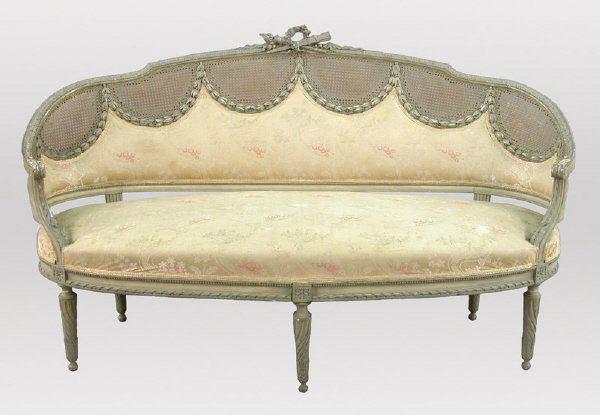 99 a french sofa with carved antique painted canape lot 99 for Canape french translation