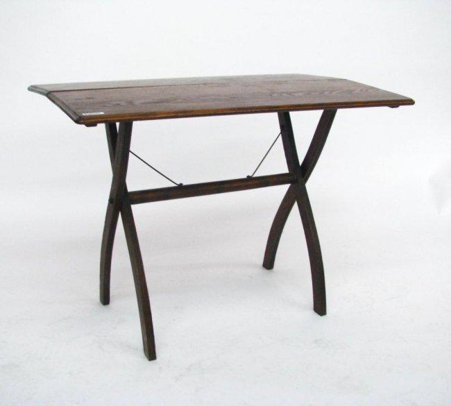 Vintage Folding Table : 608: Antique Oak Folding Table