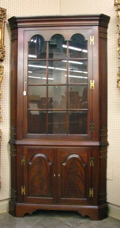Councill furniture mahogany corner cupboard lot 321 for Furniture 321