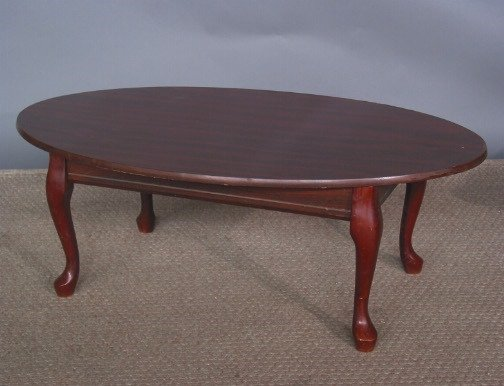 2659 Oval Coffee Table Queen Anne Style 26 39 39 Wide B Lot 2659