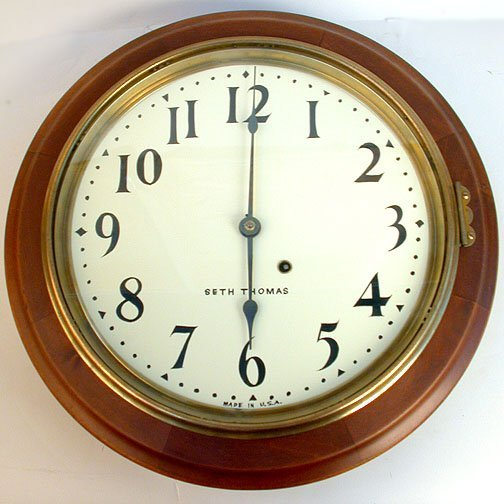 1614 seth thomas wall clock n r wood key lot 1614