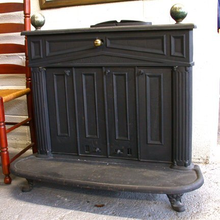 515: CAST IRON BEN FRANKLIN STOVE PAINTED BLA : Lot 515 - BEN FRANKLIN WOOD STOVES SALE €� BEST STOVES