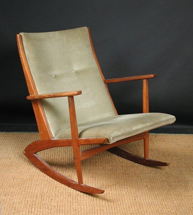 teak rocking chair, designed by Soren Georg Jensen : Lot 188