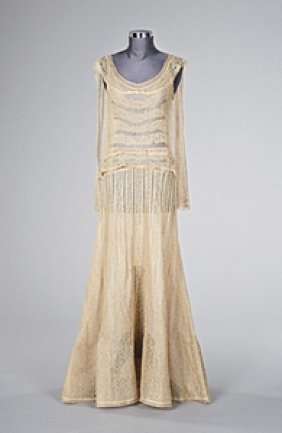 135 a chanel lace evening gown early 1930s unlabelle