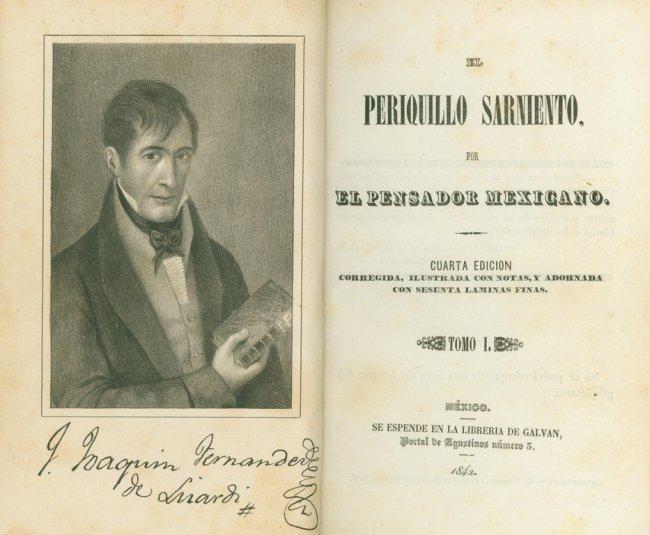 FERN  193 NDEZ DE LIZARDI  El Periquillo Sarniento     1842   Lot 142