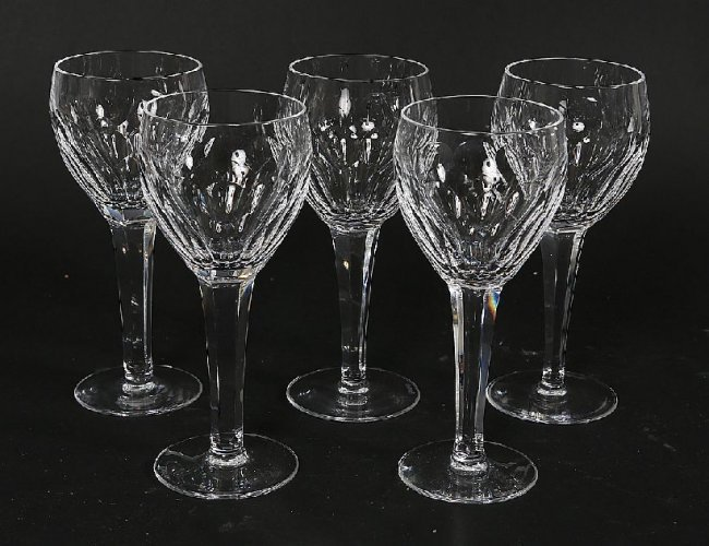 18 set of 5 waterford wine glasses lot 18 - Waterford colored wine glasses ...
