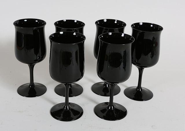 82 set of 6 lenox amethyst wine glasses lot 82 - Lenox colored wine glasses ...