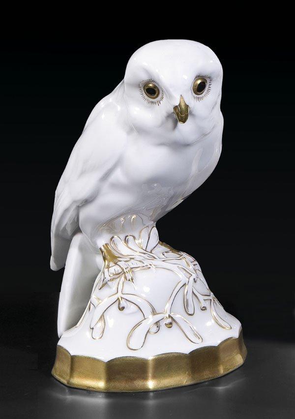 3022 eule klee hutschenreuther figurine owl porcelain lot 3022. Black Bedroom Furniture Sets. Home Design Ideas