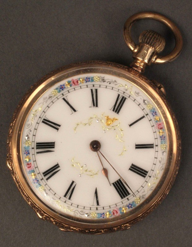 Cuivre 14k Gold Full Hunter Pocket Watch Antique Vintage ...