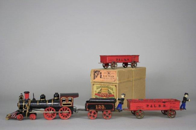 Nycrr Cast Iron Train: Floor Train With Original Box Cast Iron : Lot 322