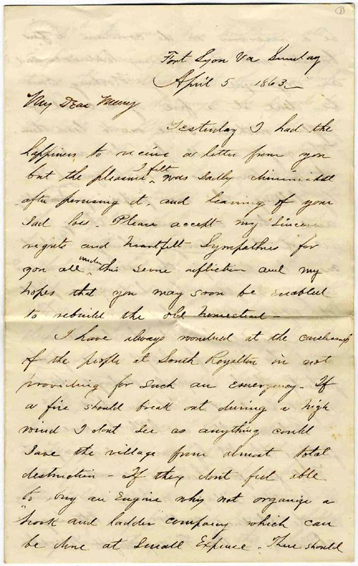 1427: Civil War Soldier Love Letter Signed ALS : Lot 1427