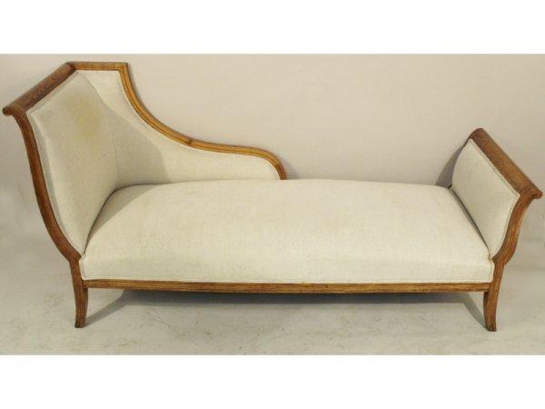 1214 biedermeier chaise lounge lot 1214 for Biedermeier chaise