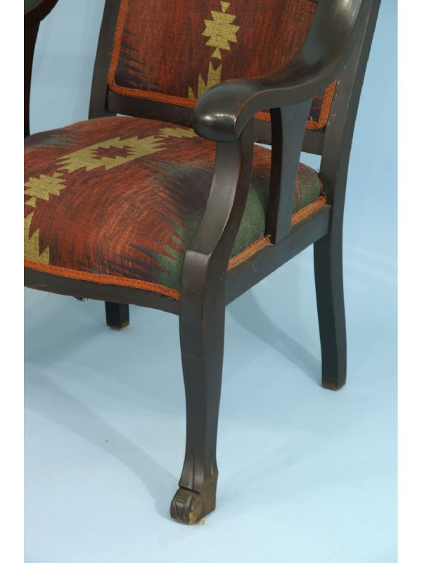 1299 American Empire Style Rocking Chair And Armchair