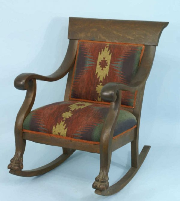1303 American Empire Style Rocking Chair Lot 1303