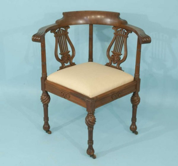 111 antique victorian corner chair circa 1900 lot 111