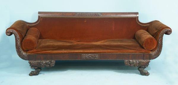 40a Plantation Style American Empire Sofa Circa 1840