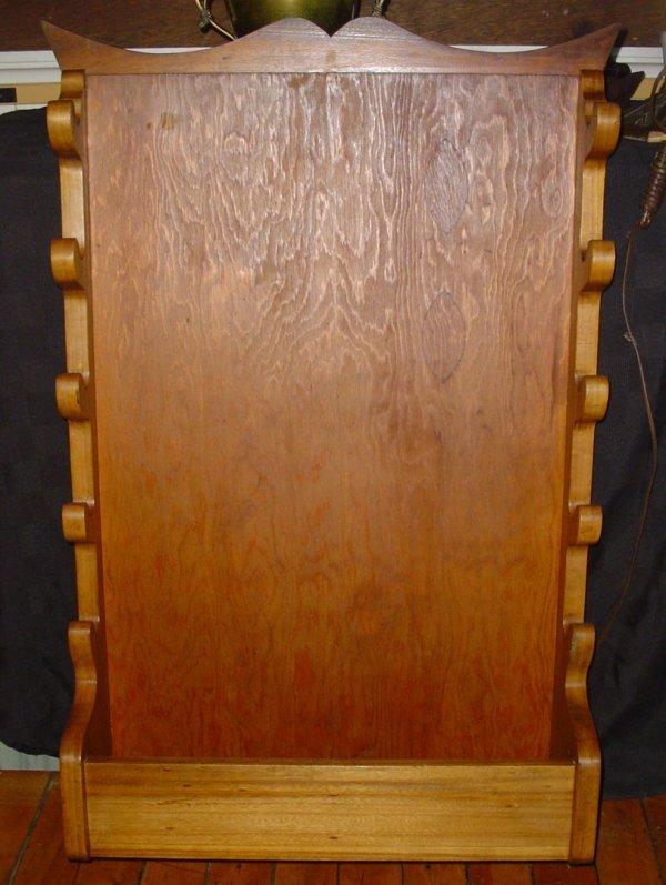 413 Old Wood Wall Hanging Gun Rack 1686 Lot 413