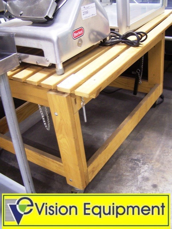 Used Display Tables ~ Used produce wooden adjustable display table lot