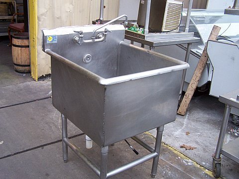 Captivating 1522: Used Commercial Stainless Steel Mop/Prep Sink