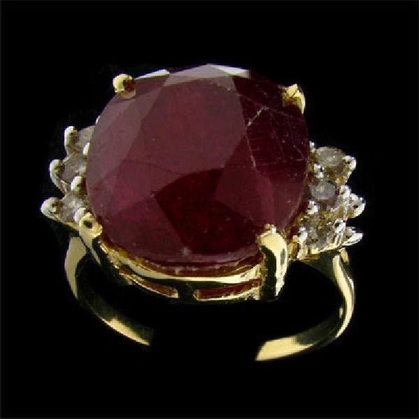 APP 17 3k 14 kt Gold 16 03CT Ruby & Diamond Ring Lot 203