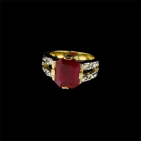 APP 7 2k 14 kt Gold 2 99CT Ruby & Diamond Ring Lot 1689