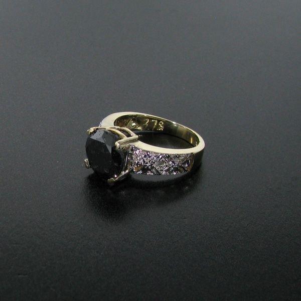 APP 16 2k 3 60CT Rare Black Diamond 14 kt Gold Ring Lot 59
