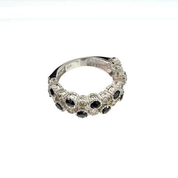 APP 3k 14kt White Gold 0k Tourmaline & Diamond Ring Lot 183