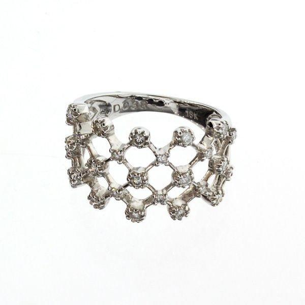 APP 3 1k 18 kt White Gold 0 42CT Diamond Ring Lot 121C