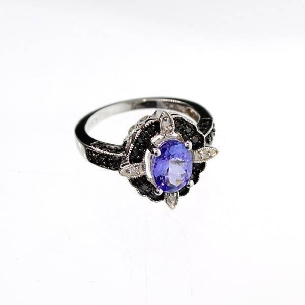 APP 2k 1k Diamond Platinum Sterling Silver Ring Lot 195