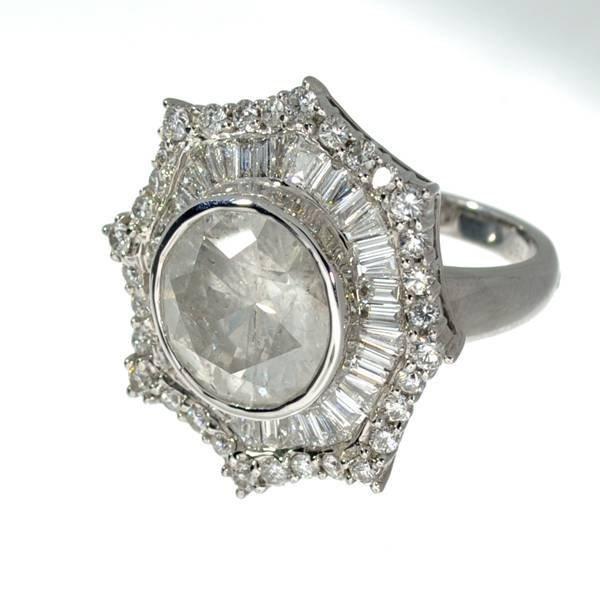 APP 89 5k 18 kt White Gold 8 08CT Diamond Ring Lot 13D