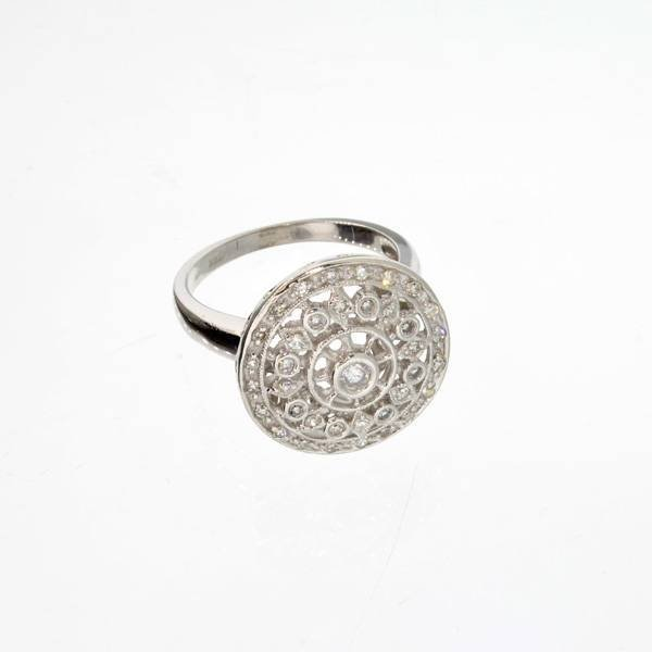 APP 2 3k 14 kt White Gold 0 30CT Diamond Ring Lot 123A