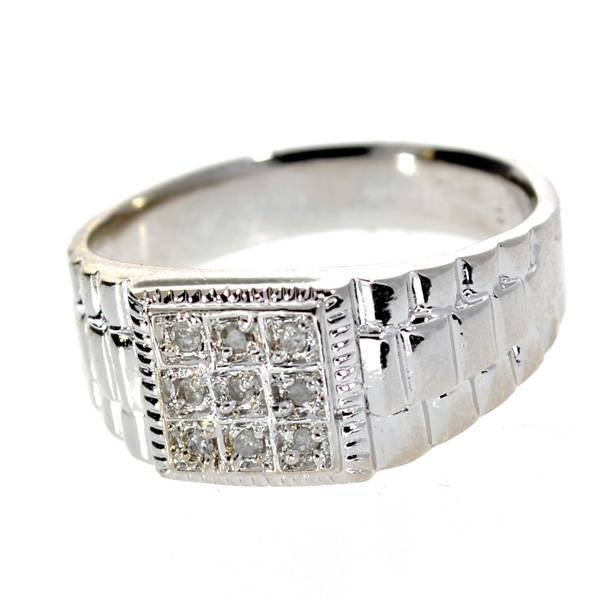 APP 1k 0CT Round Cut Diamond & Over Sterl Silver Ring Lot 409