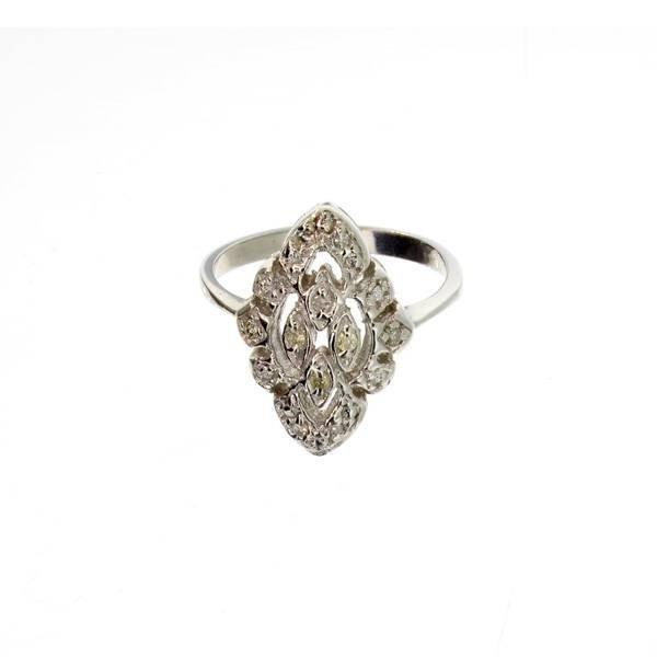 APP 1 3k 14 kt White Gold 0 10CT Diamond Ring