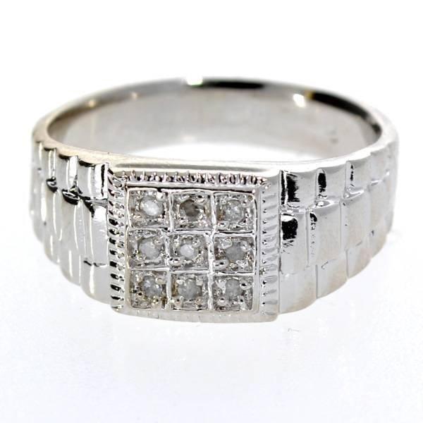 App 1k 0ct Round Cut Diamond Amp Sterl Silver Ring Lot 267