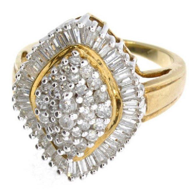 APP 7 3k 14kt White & Yellow Gold 1 25CT Diamond Ring Lot 655