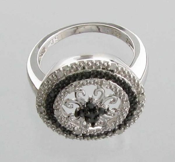 APP 1k CT Round Cut Diamond Plat Sterl Silver Ring Lot 1103