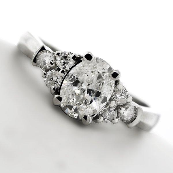 APP 8 3k 14 kt White Gold 1 27CT Diamond Ring Lot 800
