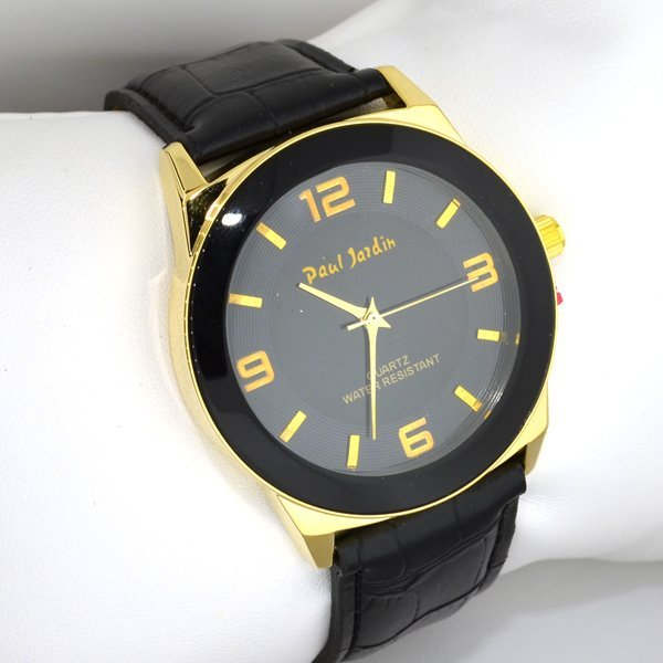 Paul jardin quartz men 39 s watch lot 161 for Paul jardin quartz watch