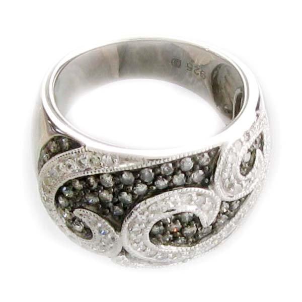 APP 3k 1CT Round Cut Diamond Plat Sterl Silver Ring Lot 1659