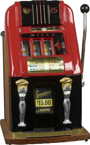 mills slot machine key