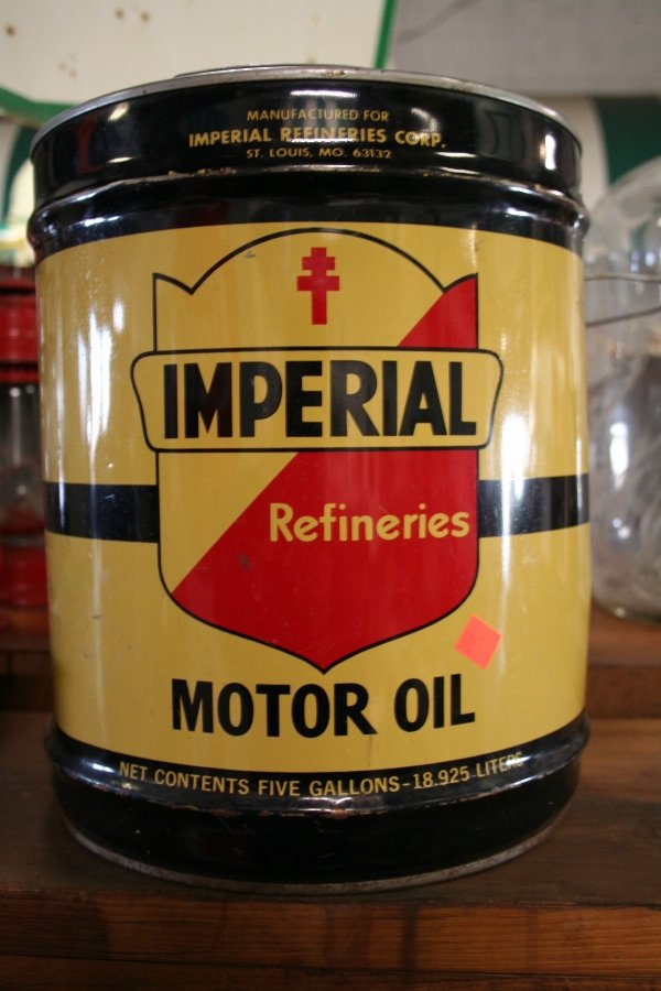 401 imperial motor oil five 5 gallon can lot 401 for Gallon of motor oil
