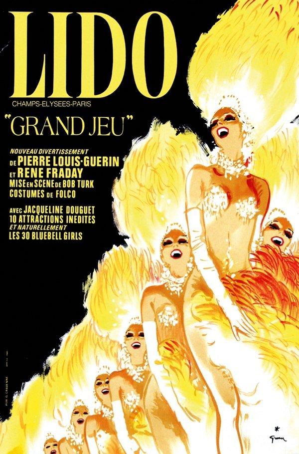 106 poster by ren gruau lido grand jeu lot 106. Black Bedroom Furniture Sets. Home Design Ideas
