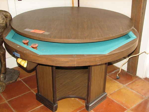 9513 Large Round Bumper Pool Table With Removal Table