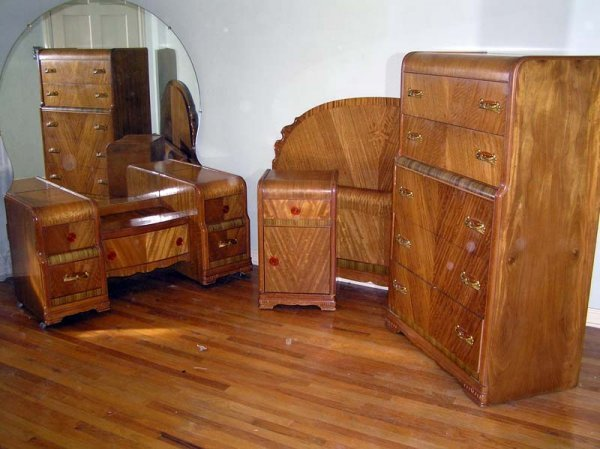 5 Waterfall Bedroom Set 1930 40 L A Period Furniture C