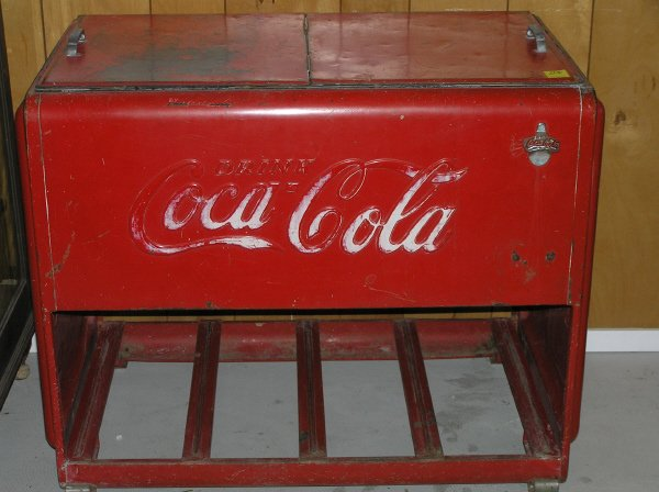 206 coca cola cooler with two door top lot 206 for 1 door retro coke cooler