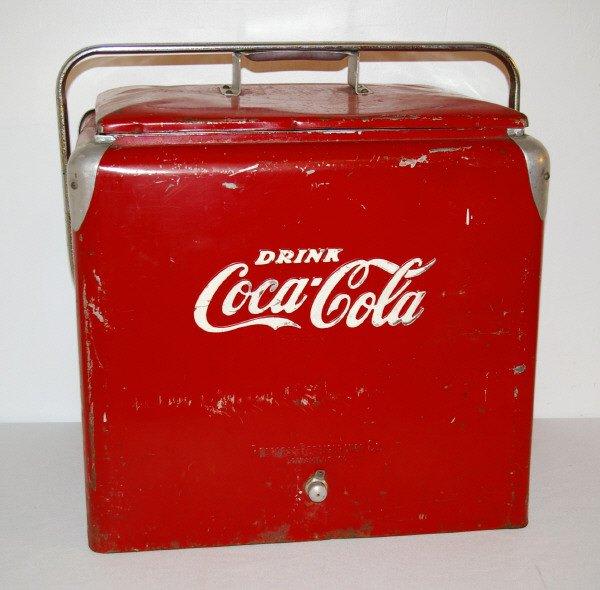 5 drink coca cola cooler with bottle opener lot 5. Black Bedroom Furniture Sets. Home Design Ideas