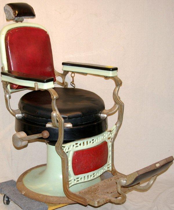 com item 12511797 koken congress vintage pedestal barber chair