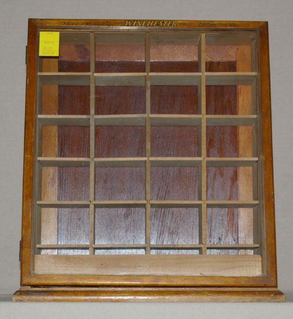 1128 vintage winchester countertop display case lot 1128 Vintage countertop display case