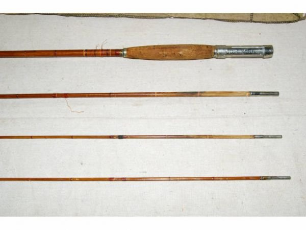 1490b antique montague bamboo fly rod lot 1490b for Montague fishing rod